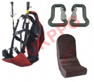 UKPPG Paraglider Wing Training Harness 100mm Foam back Protector & Quality Carabiners (Flyable) EOLE